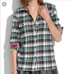 Madewell Flap Pocket Flannel Shirt - XS